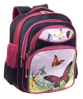 Купить Рюкзак детский три отделения 4161 бабочки 35*28*11см