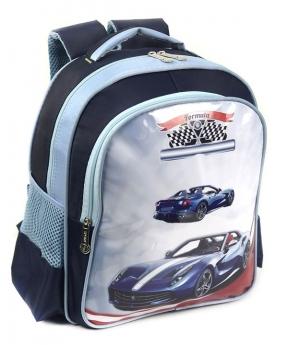 Купить Рюкзак детский 4172 машина синяя 35*28*12см