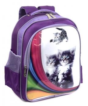 Купить Рюкзак детский 4173 котики 35*28*12см