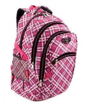 Купить Рюкзак подростковый 4149 розовые ромбики 45*29*18см
