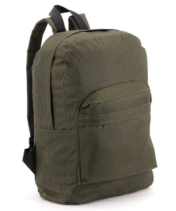 Рюкзак молодёжный лёгкий 4193 хаки 41*29*12см