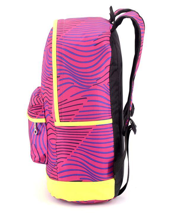 Рюкзак подростковый 4312 розовый с полосками 42*28*13см