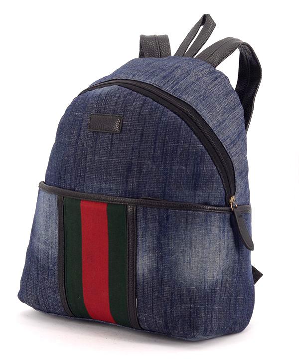 Рюкзак молодёжный 4315-1 тёмный джинс 35*25*12см