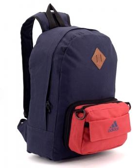 Купить Рюкзак молодежный 4328 карман сумочка красная 39*27*12см