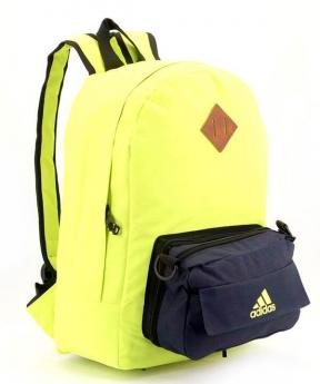 Купить Рюкзак молодежный адидас 4329 карман сумочка 39*27*12см