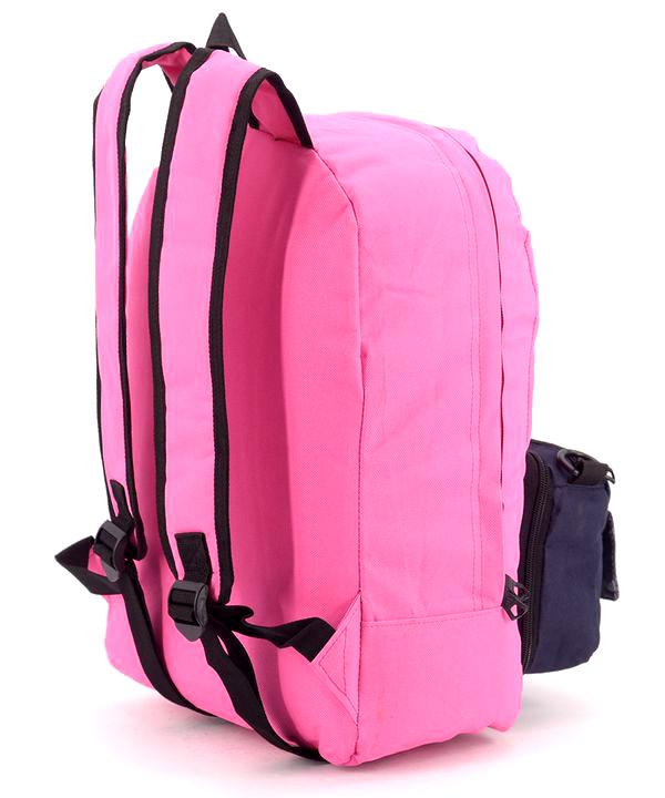 Рюкзак молодежный адидас розовый 4330 карман сумочка  39*27*12см