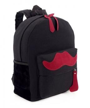 Купить Рюкзак молодежный 4340 чёрный с усами 39*31*12см