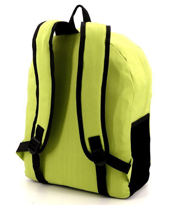 Рюкзак молодежный салатовый 4342 с усами 39*31*12см