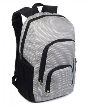 Купить Рюкзак серый 4359 в горошек 43*28*13см