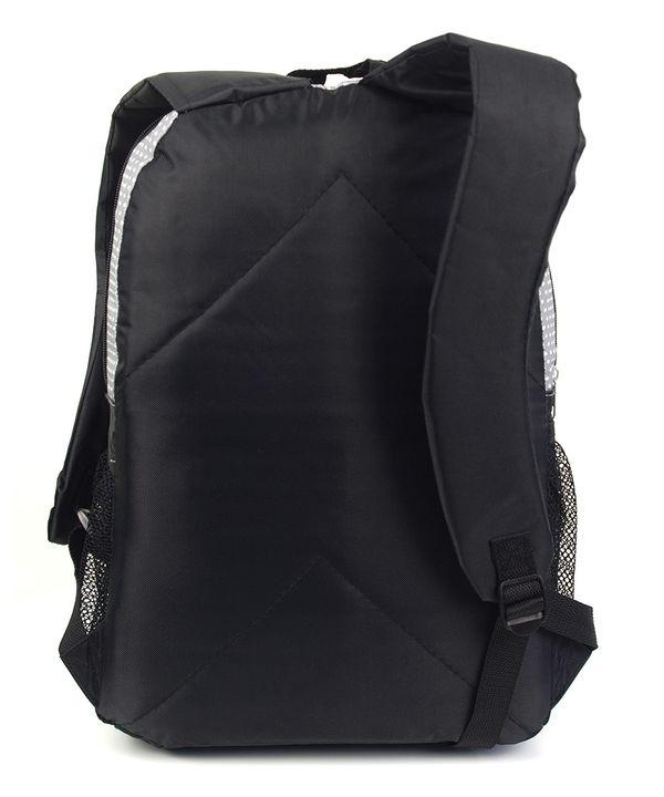 Рюкзак серый 4359 в горошек 43*28*13см