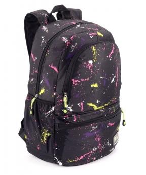 Купить Рюкзак молодёжный 4504 чёрный (унисекс) 44*27*13см
