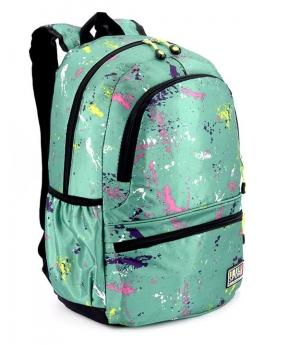 Купить Рюкзак молодёжный 4505 зелёный (унисекс) 44*27*13см