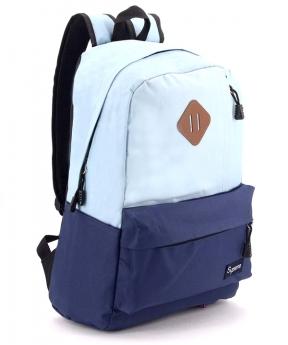 Купить Рюкзак молодёжный голубой 4507