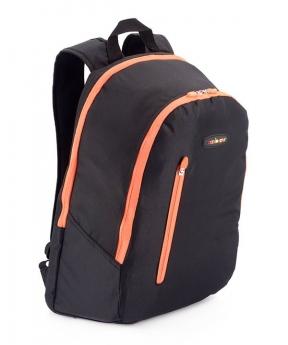 Купить Рюкзак accelorator 4512 чёрный с оранжевыми замками 47*29*15см