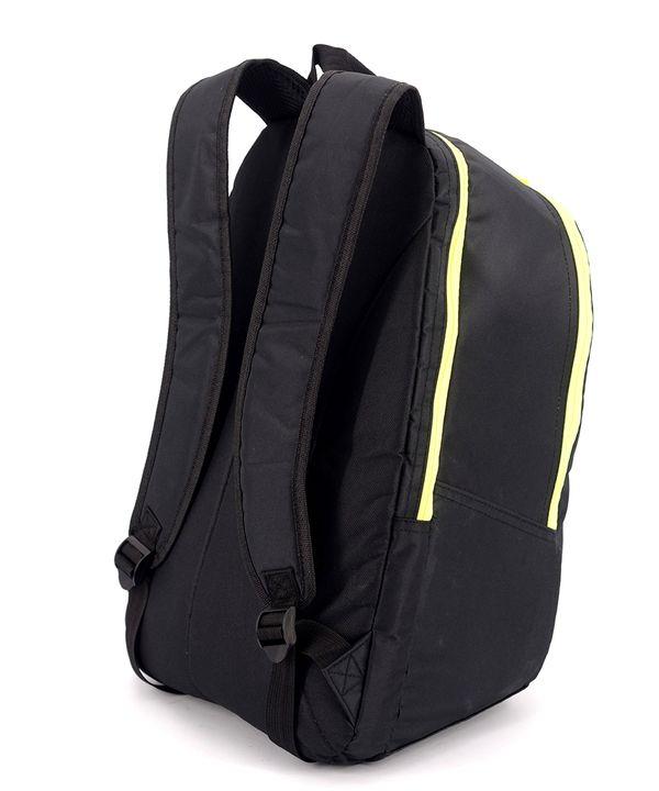 Рюкзак accelorator 4514 чёрный с салатовыми замками 47*29*15см