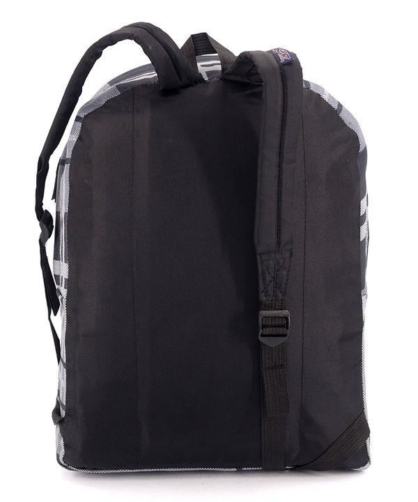 Рюкзак молодежный, серая клетка 4678