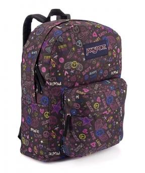 Купить Рюкзак молодежный, PEACE фиолетовый 4681