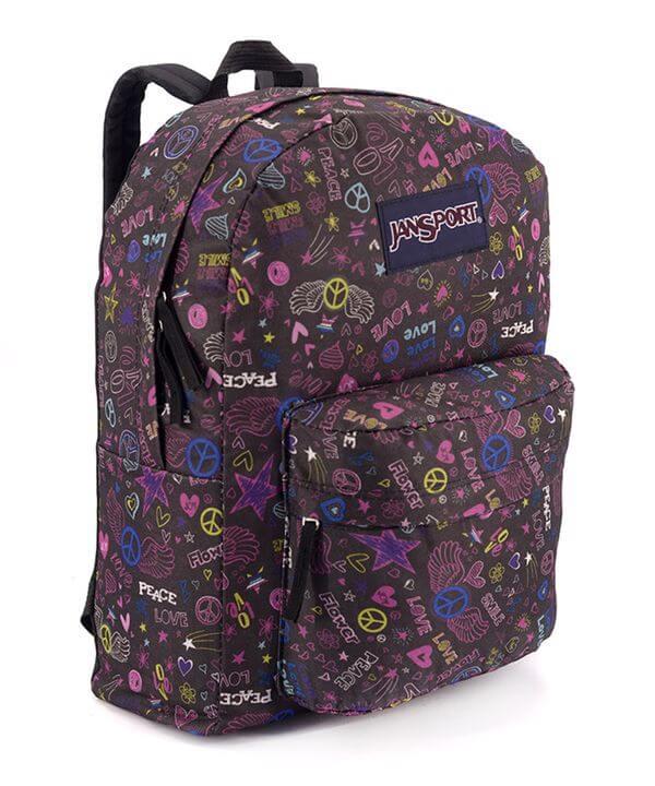 Рюкзак молодежный, PEACE фиолетовый 4681