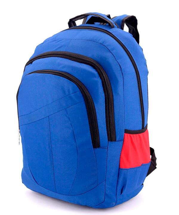 Рюкзак синий 4743 красные вставки 47*31*13см