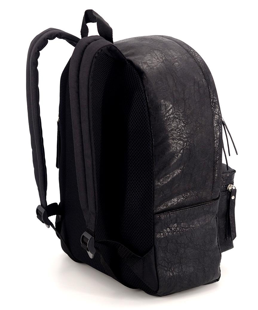 Рюкзак 4802 еко кожа чёрный 38*26*13см