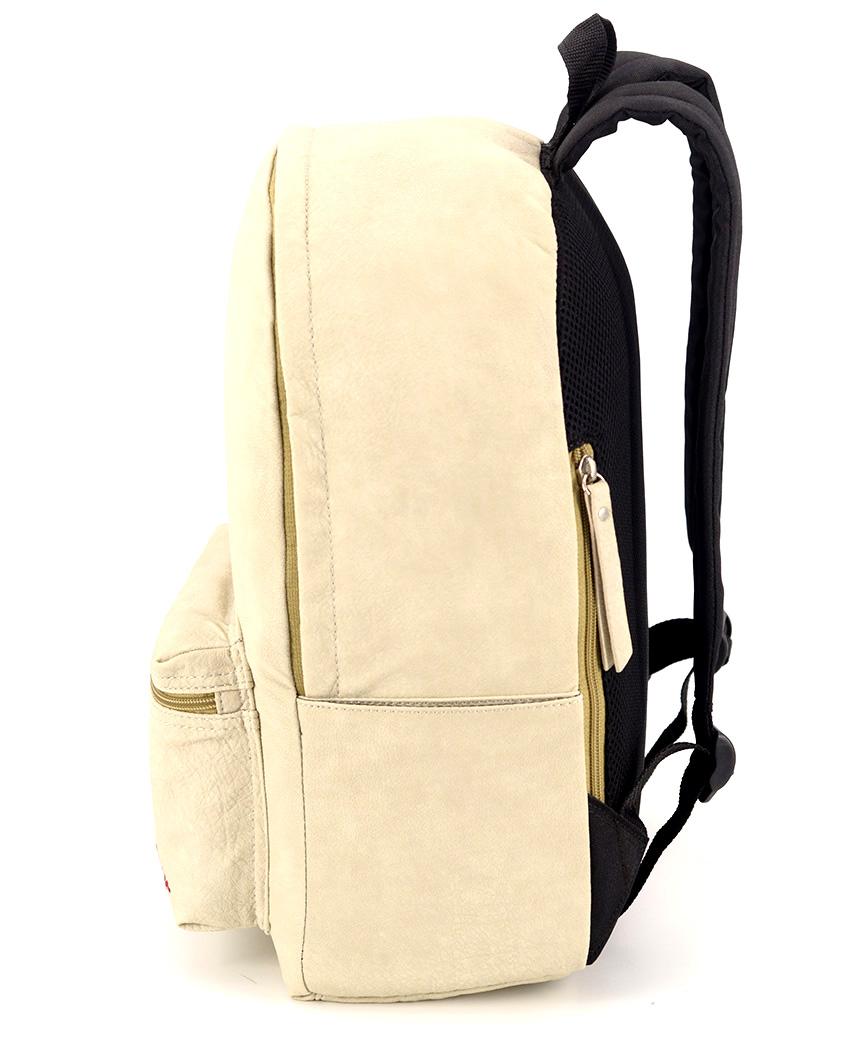 Рюкзак 4807 еко кожа кремовый 38*26*13см