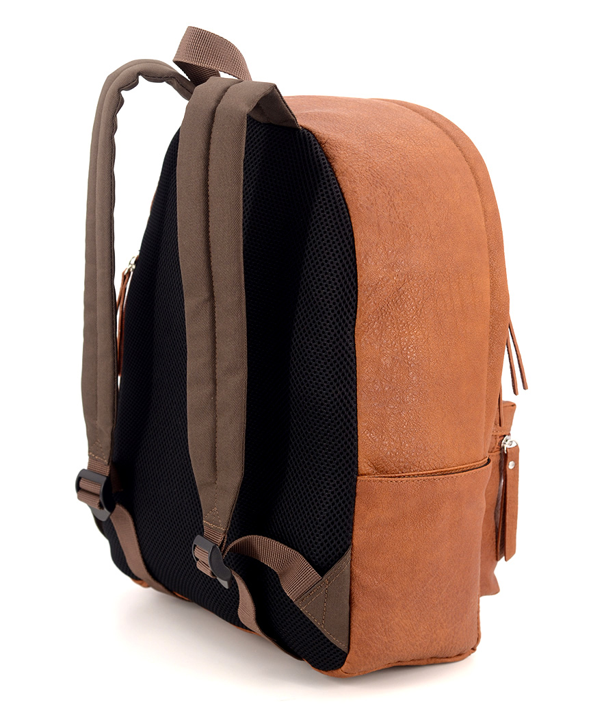 Рюкзак 4813 еко кожа коричневый 38*26*13см