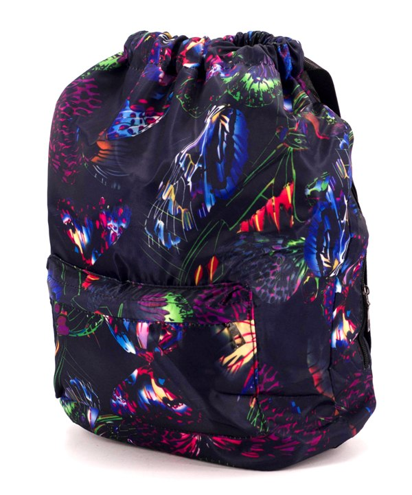 Рюкзак-мешок 4838 бабочки 42*41*16см