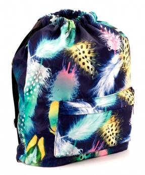 Купить Рюкзак-мешок 4839 перо 42*41*16см