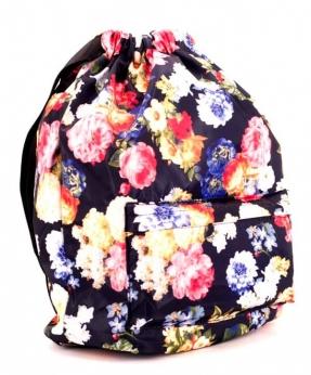 Купить Рюкзак-мешок 4840 цветы 42*41*16см