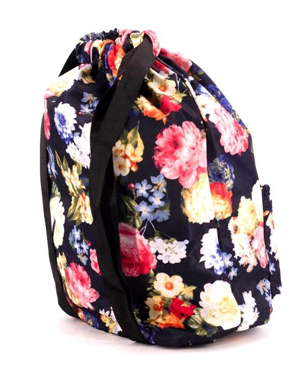 Рюкзак-мешок 4840 цветы 42*41*16см
