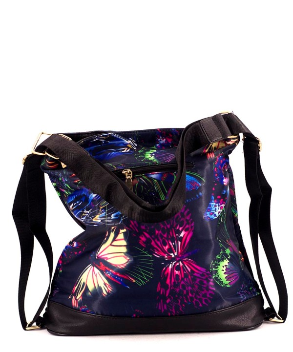 Сумка-рюкзак 4842 бабочки 39*36*13см