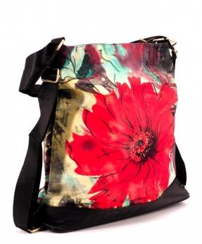 Купить Сумка-рюкзак 4843 красный цветок 39*36*13см