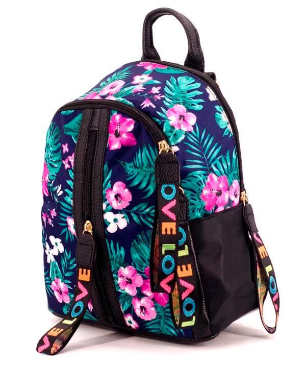 Рюкзак гламур 4852 цветы 39*36*13см