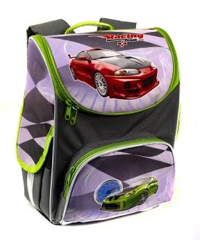 Купить Рюкзак-короб RANEC 4901 Зелёное авто 35*25*13см