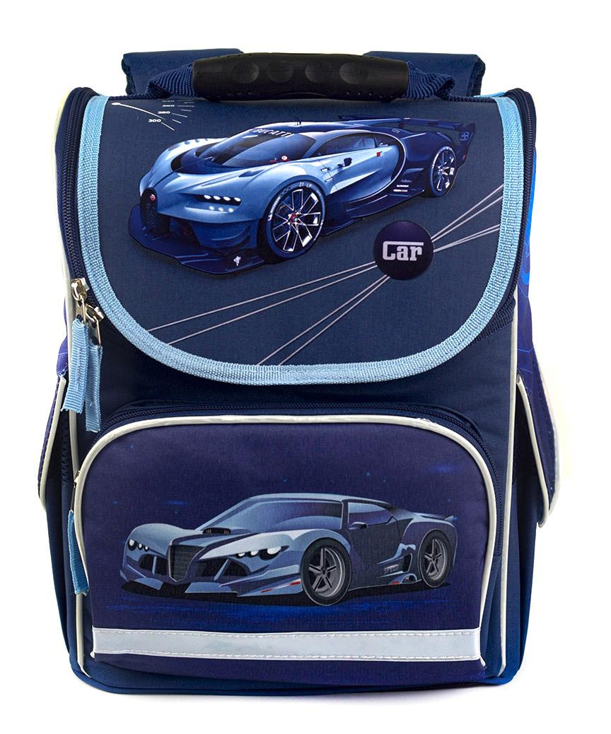 Рюкзак-короб RANEC 4932 Синие авто 35*25*13см