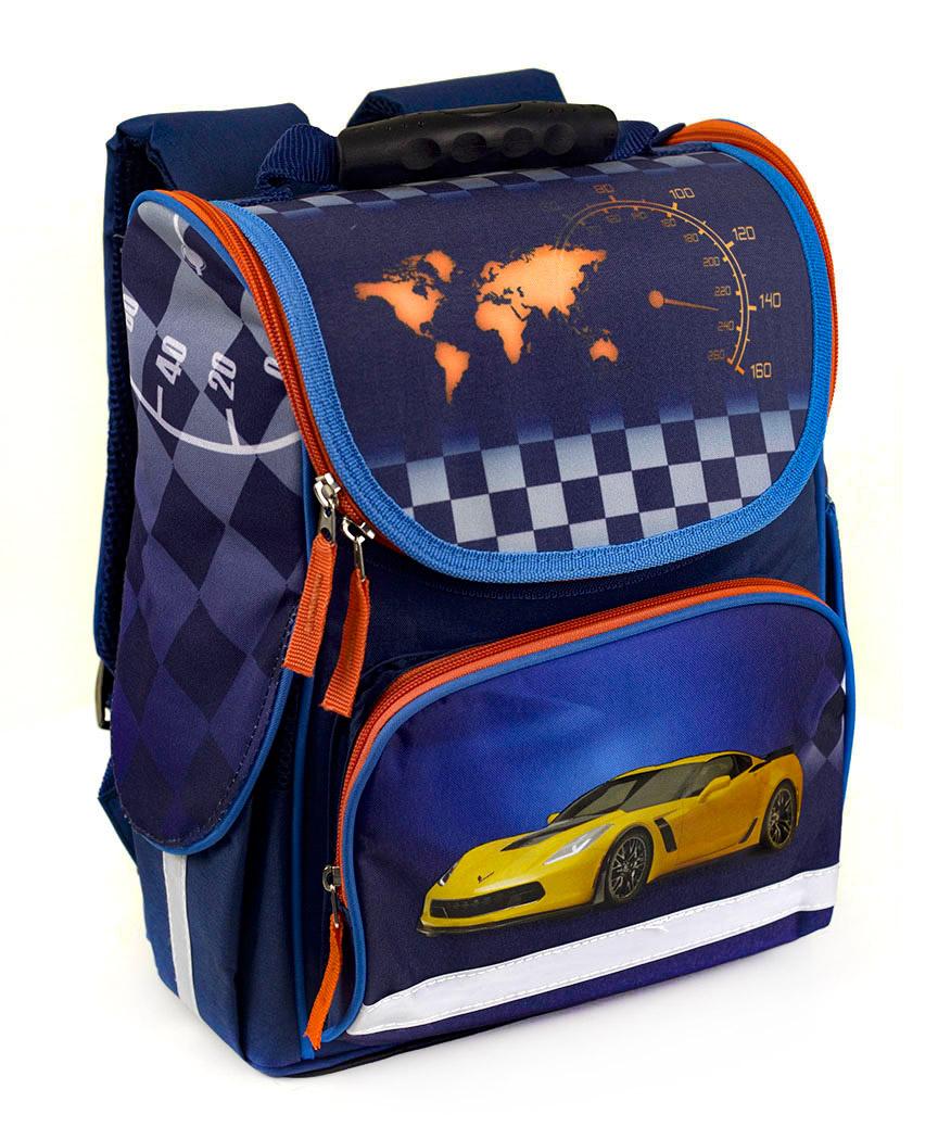 Рюкзак-короб RANEC 4942 Жёлтое авто 35*25*13см