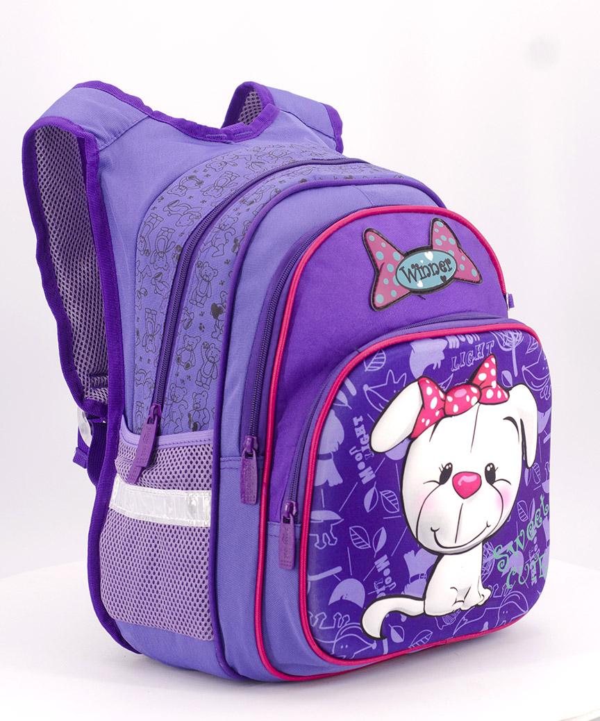 Рюкзак ортопедический 3D 4971 собачка с бантиком 39*27*16,5см