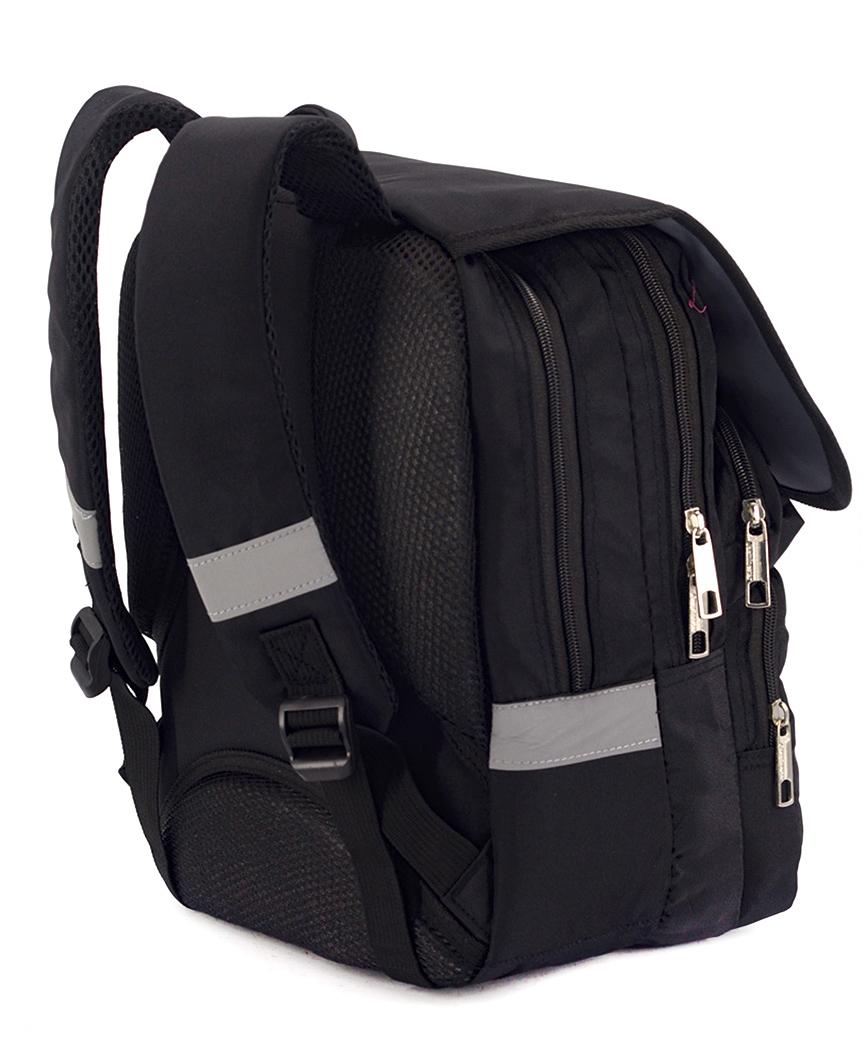 Рюкзак ортопедический черный 4984 формула 34*26*20см