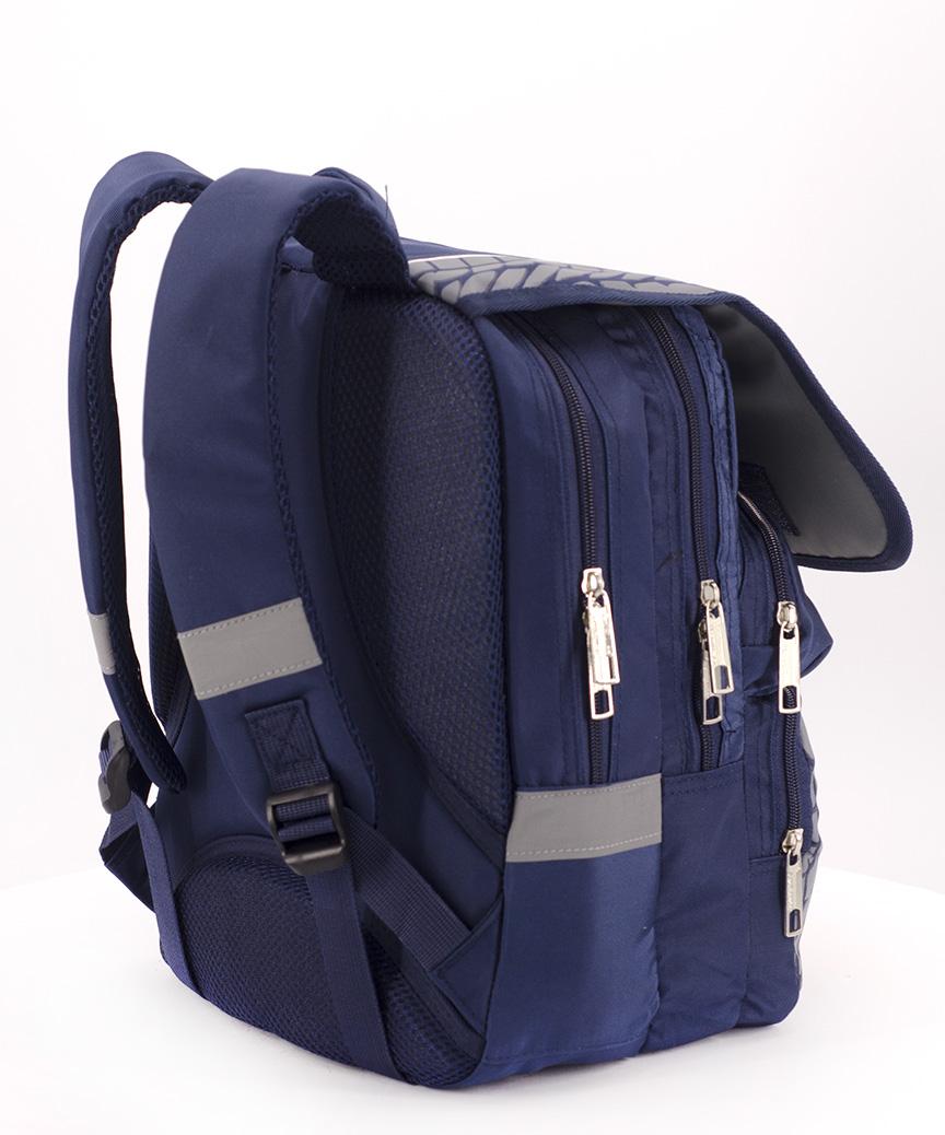 Рюкзак ортопедический синий 4987-1 гризли 34*26*20см