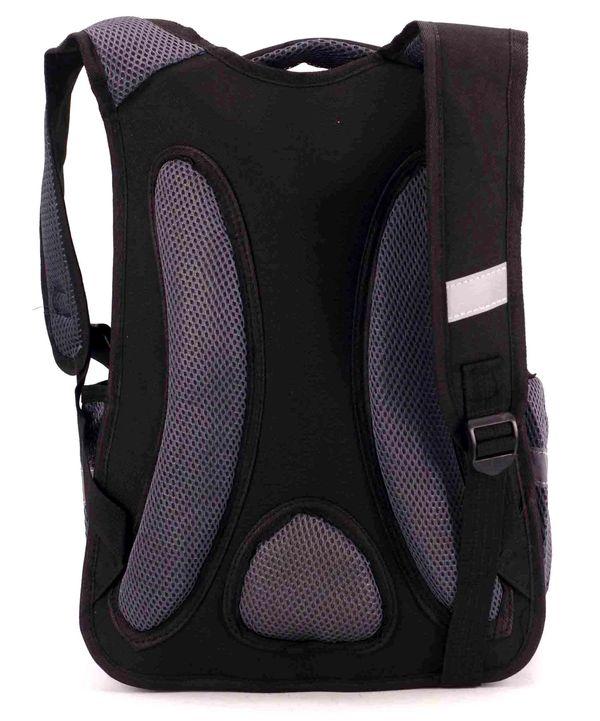Рюкзак ортопедический 3D чёрный 4985 мяч 40*28*14,5см