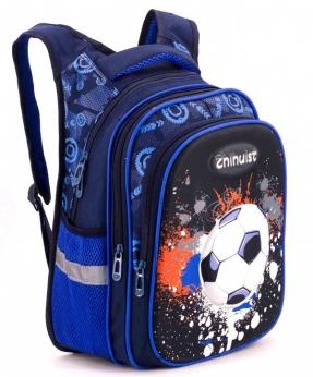 Купить Рюкзак ортопедический 3Д синий, мяч 4985-1