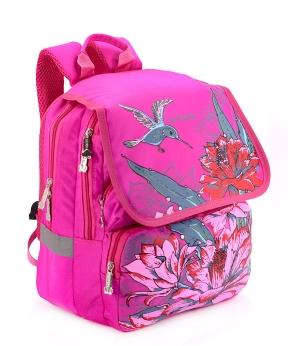 Купить Рюкзак ортопедический розовый 4993 колибри 34*26*20см
