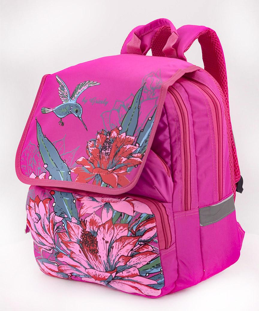 Рюкзак ортопедический розовый 4993 колибри 34*26*20см