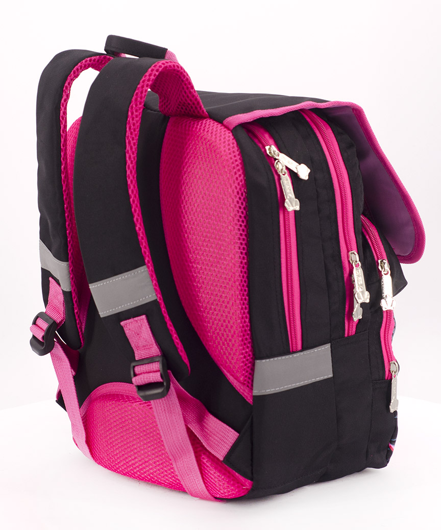Рюкзак ортопедический черный 4994 колибри 34*26*20см