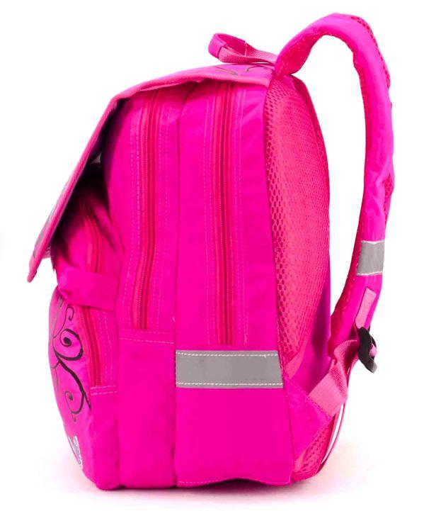 Рюкзак ортопедический розовый 4995 цветы 34*26*20см