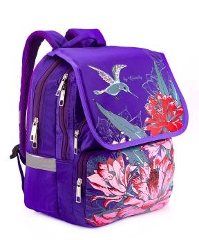 Купить Рюкзак ортопедический фиолетовый 4996 колибри 34*26*20см
