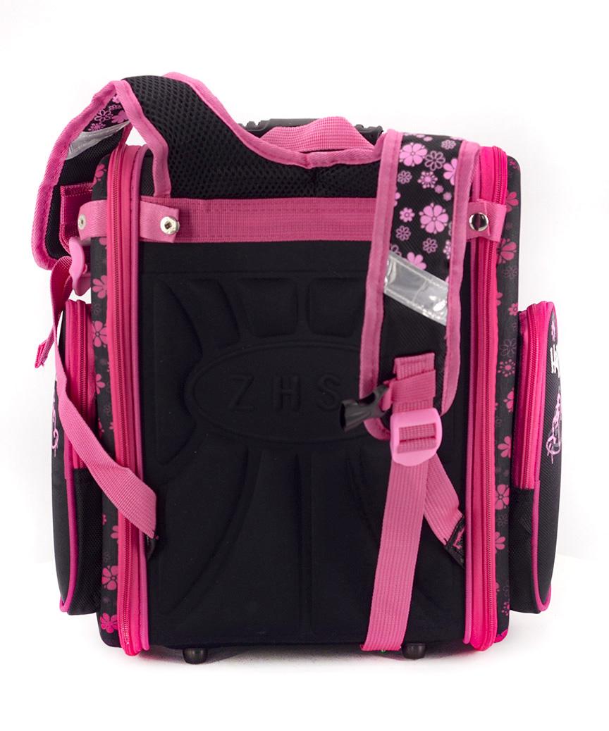Рюкзак ортопедический черный 4997-1 котик 33*23*14см