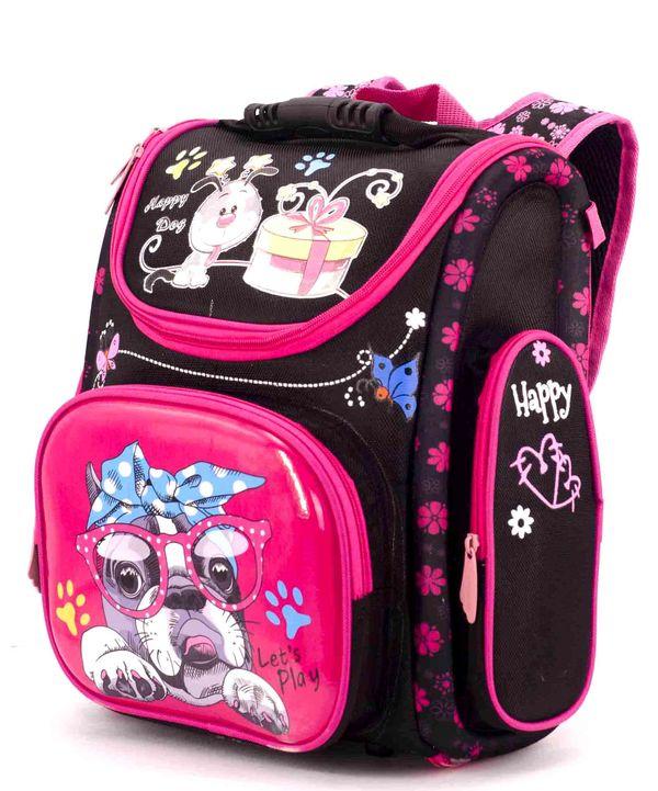 Рюкзак ортопедический черный 4997 собака 33*23*14см