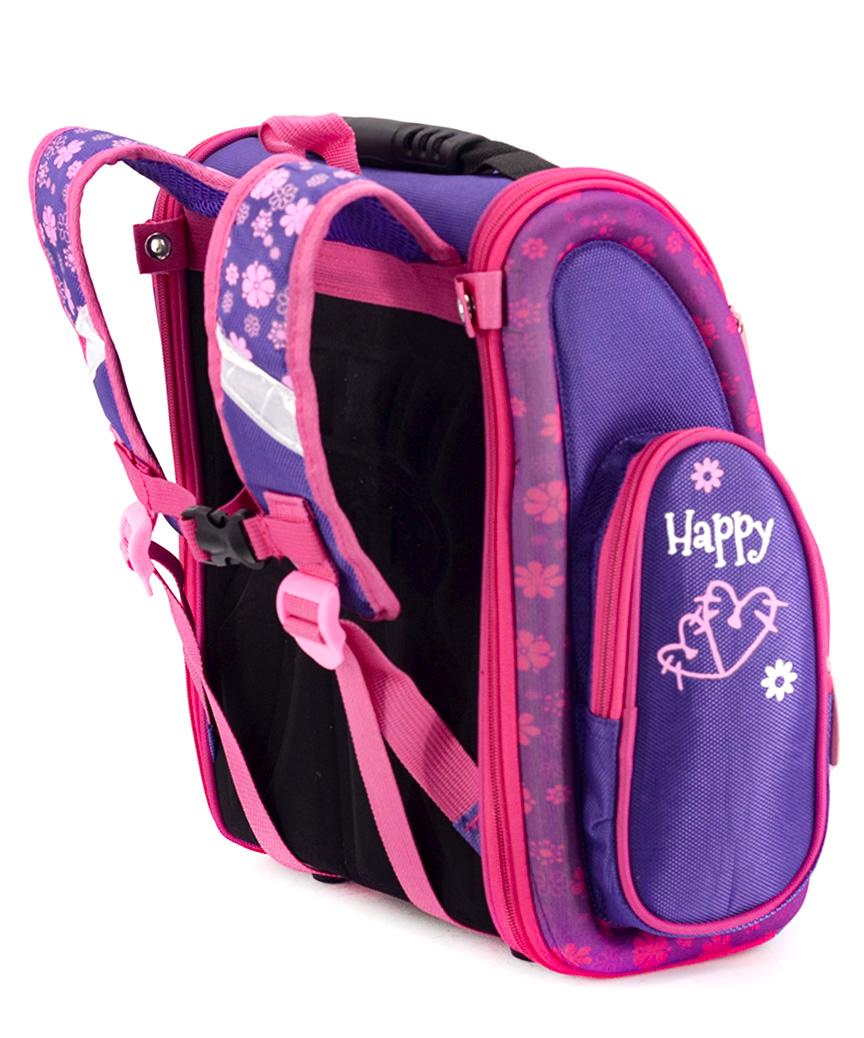 Рюкзак ортопедический фиолетовый 4998  котик 33*23*14см