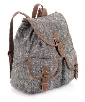 Купить Рюкзак женский тканевый, серый 5102